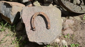 Horseshoes stone Stock Photography