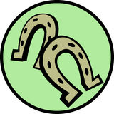 Horseshoes vector illustration Royalty Free Stock Image