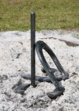 Horseshoes. Waiting for a game to start Royalty Free Stock Photos