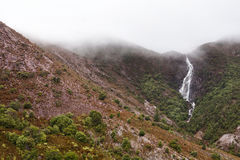 Horsetail падает Queenstown Тасмания Стоковое Изображение