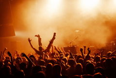 Crowd surfing Royalty Free Stock Images