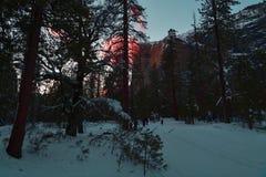 Horsetail Fall at Yosemite National Park royalty free stock photos