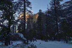 Horsetail Fall at Yosemite National Park stock photography