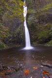 Horsetail Falls in the Fall Stock Images
