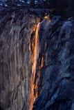 Horsetail-Feuer-Fälle Stockbild