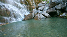 Horsetail waterfall, Ordesa, Spain Royalty Free Stock Photos