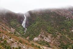 Horsetailen faller Queenstown Tasmanien Royaltyfria Bilder