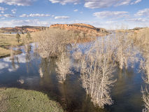 Horsetooth Reservoir aerial landscape Royalty Free Stock Image
