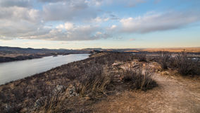 Horsetooth Reservoir, Fort Collins, Colorado at Dusk. Horsetooth Reservoir is located in the foothills west of Fort Collins, Colorado, and is 6.5 miles 10 km Stock Photos