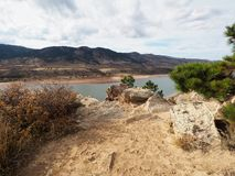 Horsetooth Reservoir in Fort Collins Colorado stock image