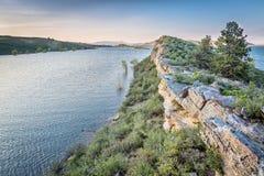 Horsetooth Reservoir at springtime Royalty Free Stock Image