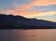 Horsetooth Reservoir at sunset. Stock Photos
