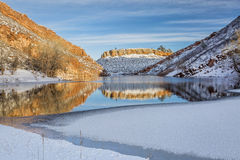 Horsetooth Reservoir in winter scenery Royalty Free Stock Images