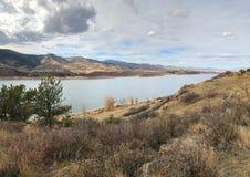 Horsetooth rezerwuar w forcie Collins Kolorado fotografia royalty free