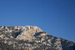 Horsetooth Rock in winter scenery Stock Photos