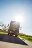 Horsetruck com fundo blured Imagens de Stock
