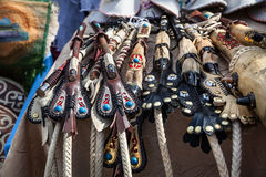 Horsewhips in the market Royalty Free Stock Image