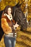Horsewoman Zdjęcia Stock