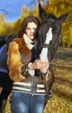 Horsewoman Zdjęcie Stock
