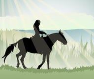 Horsewoman иллюстрация штока