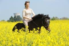 horsewoman stockfotografie