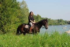 horsewoman Fotografia de Stock Royalty Free