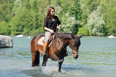 horsewoman Fotos de Stock Royalty Free