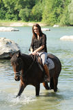 horsewoman Imagem de Stock