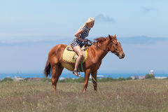 horsewoman Immagine Stock Libera da Diritti