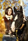 Horsewoman stock photography
