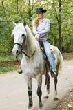 horsewoman potomstwa Zdjęcie Stock
