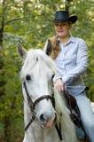 horsewoman potomstwa Obrazy Stock