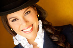 Horsewoman smiling Royalty Free Stock Images