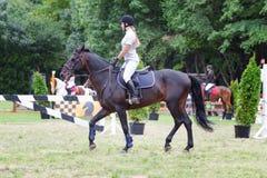Horsewoman w bielu Zdjęcie Stock