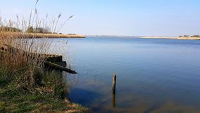 Horsey Mere is one of the Norfolk Broads in the east of England. Horsey  mere one norfolk broads east england more northerly close sea coast reached hickling royalty free stock photography