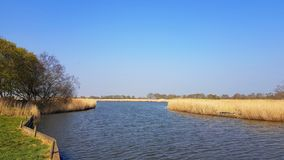 Horsey Mere is one of the Norfolk Broads in the east of England. Horsey mere one norfolk broads east england more northerly close sea coast reached hickling stock images