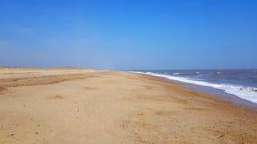 Horsey Strand ist ein wilder, unverdorbener sandiger Strand, in dem Natur ?berfluss hat Zurückgezogen durch eins der größten Sand stockbild