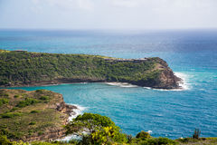 Horshoe Bay on Antigua. Surf on horseshoe bay on the Caribbean island of Antigua Stock Image