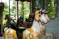 Horsies de carrousel Photo stock