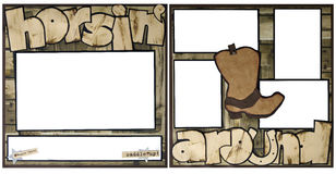 Horsing Around Scrapbook Frame Template