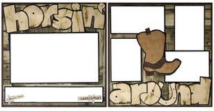 Horsing rond het Malplaatje van het Frame van het Plakboek stock illustratie