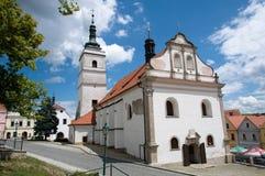 Horsovsky的Tyn,捷克共和国教会 免版税库存照片