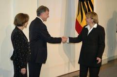 Horst Koehler, Angela Merkel Image stock