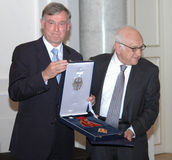 Horst Koehler, historian Fritz Stern Royalty Free Stock Image