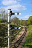 HORSTED KEYNES, SUSSEX/UK - APRIL 13: Signaler på blåklockan L Royaltyfri Foto