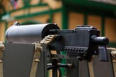 HORSTED KEYNES, SUSSEX/UK - MAJ 7: Maskingevär WW2 på Horsted Royaltyfria Bilder