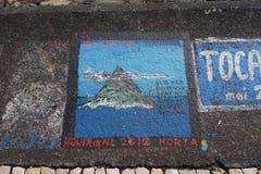 Horta Açores, articrafts dos marinheiros Foto de Stock