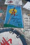 Horta Açores, articrafts dos marinheiros Imagem de Stock