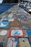 Horta Azores, articrafts of sailors Royalty Free Stock Photography