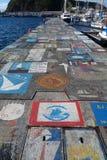Horta Azzorre, articrafts dei marinai Fotografia Stock Libera da Diritti